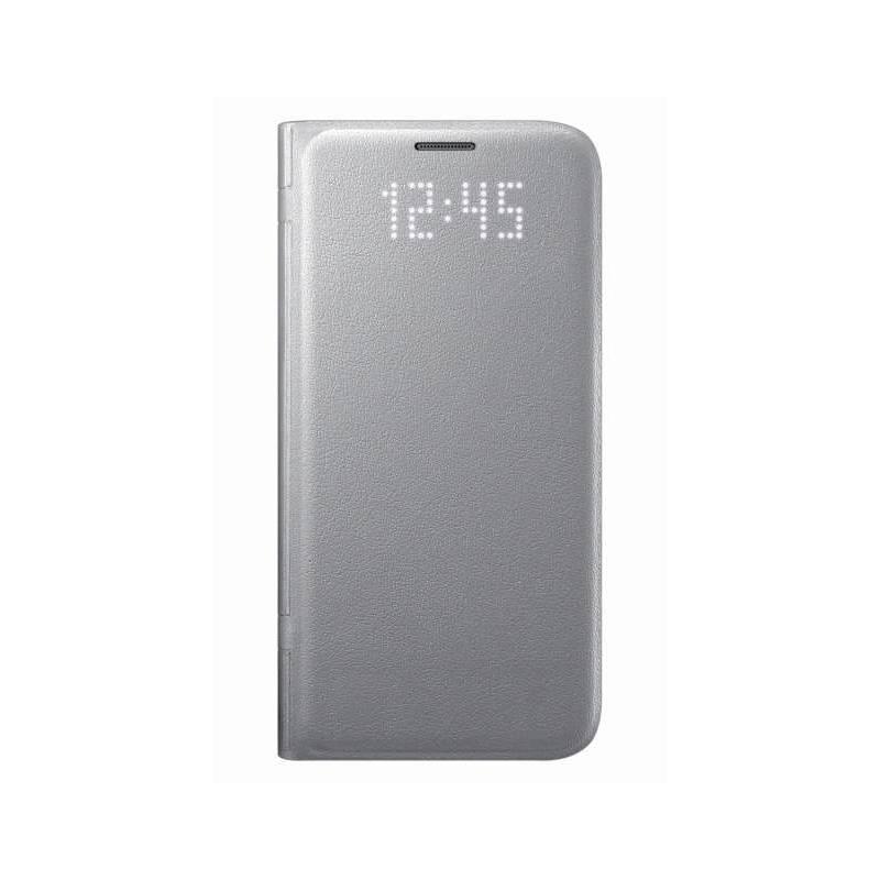 Puzdro na mobil flipové Samsung LED View pro Galaxy S7 (EF-NG930P) (EF-NG930PSEGWW) strieborné