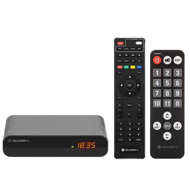 Set-top box GoGEN DVB 143 T2 SENIOR čierny