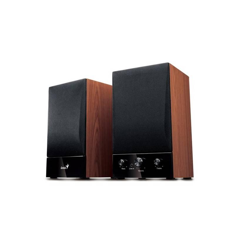 Reproduktory Genius SP-HF1250B 2.0 (31731022100) čierna/imitácia dreva
