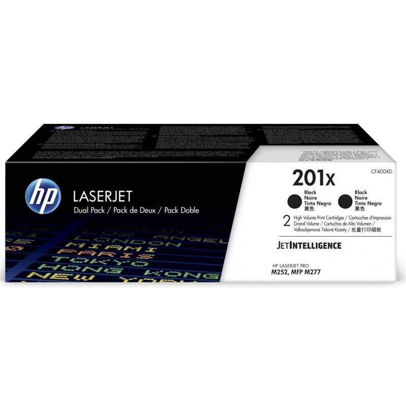 Toner HP 201X, 2x 2800 stran, 2 pack (CF400XD) čierny + Doprava zadarmo