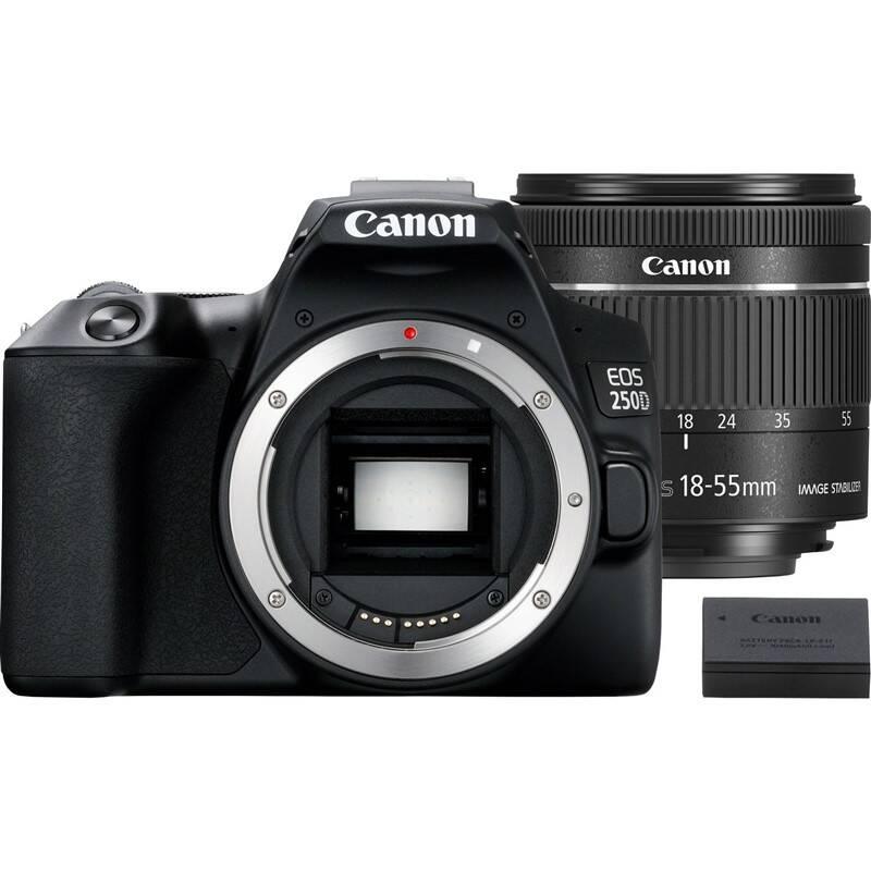 Digitálny fotoaparát Canon EOS 250D + 18-55 IS STM + akumulátor LP-E17 (3454C022) čierny Pamäťová karta Sandisk Micro SDXC Extreme 64GB, A2, UHS-I U3 (160R/60W) + adapter (SDSQXA2-064G-GN6MA) + Doprava zadarmo