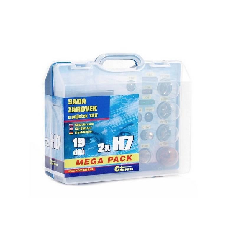 Autožiarovka Compass 12 V servisní box MEGA H7+H7+pojistky