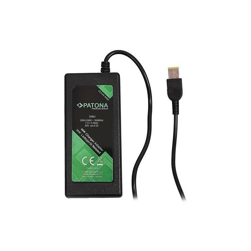 Sieťový adaptér PATONA pro notebooky Lenovo, 20V, 4,5A, 90W, Slim tip konektor (PT2580)