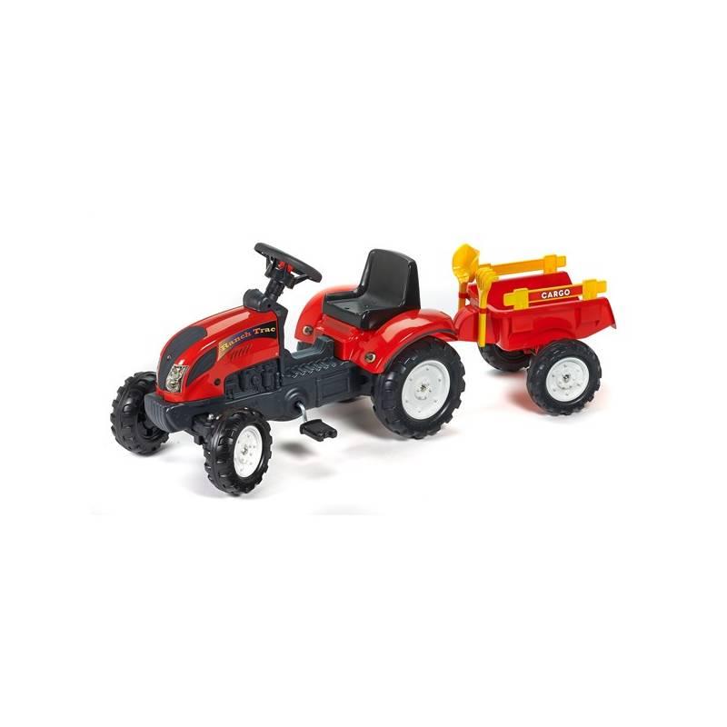 Šliapací traktor FALK Ranch Trac + vlek+lopatka+hrabičky plast