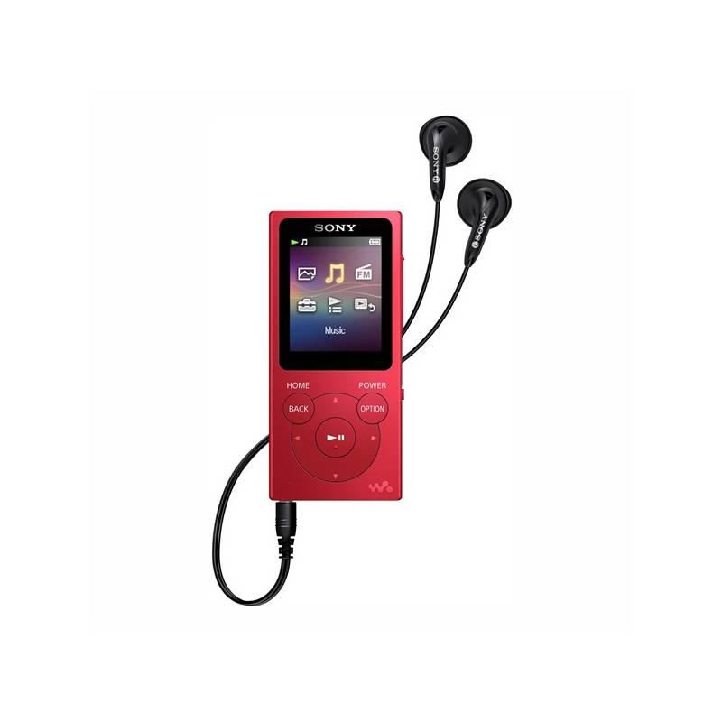 MP3 prehrávač Sony NW-E394R červený