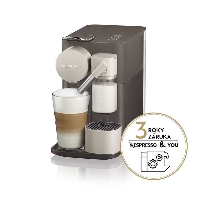 Espresso DeLonghi Nespresso Lattissima EN500.BW hnědé