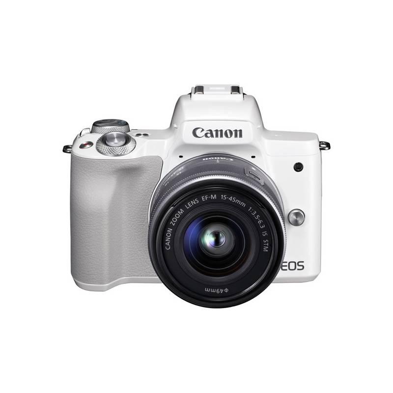 Digitálny fotoaparát Canon EOS M50 + EF-M15-45 (2681C012) biely + Doprava zadarmo