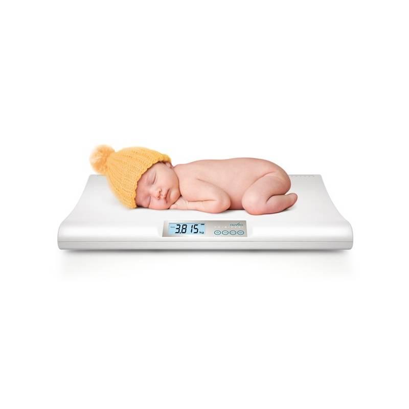 Dojčenská váha Nuvita digitální biela