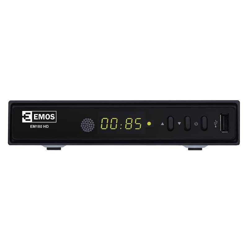DVB-T2 prijímač EMOS EM180 HD čierny