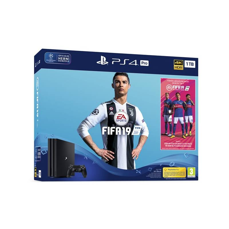 Herná konzola Sony PlayStation 4 PRO 1TB + FIFA 19 + PS PLUS Voucher (PS719752615) čierny + Doprava zadarmo