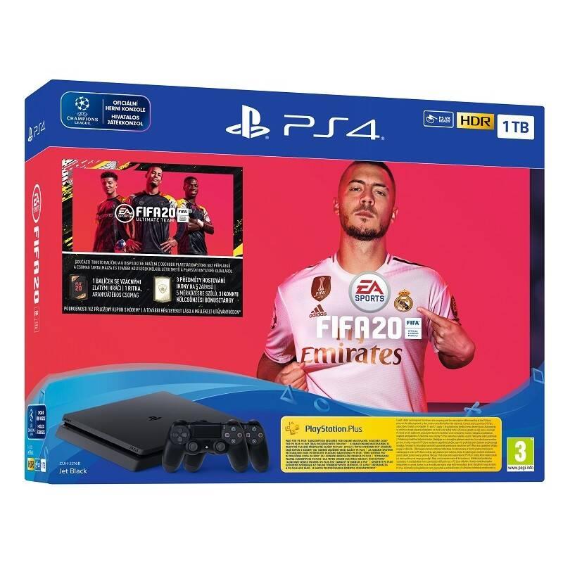 Herná konzola Sony PlayStation 4 1 TB + FIFA 20 + DS 4 (PS719976400) + Doprava zadarmo