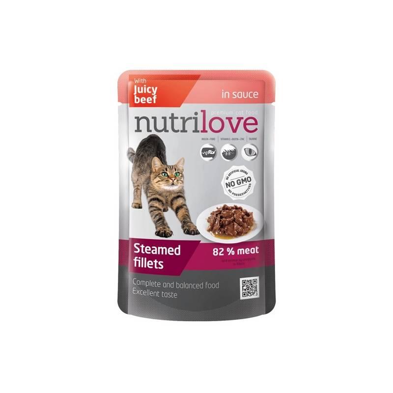 Kapsička Nutrilove Cat pouch Beef gravy 85 g