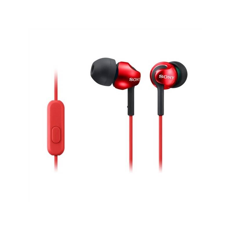 Slúchadlá Sony MDR-EX110AP (MDREX110APR.CE7) červená