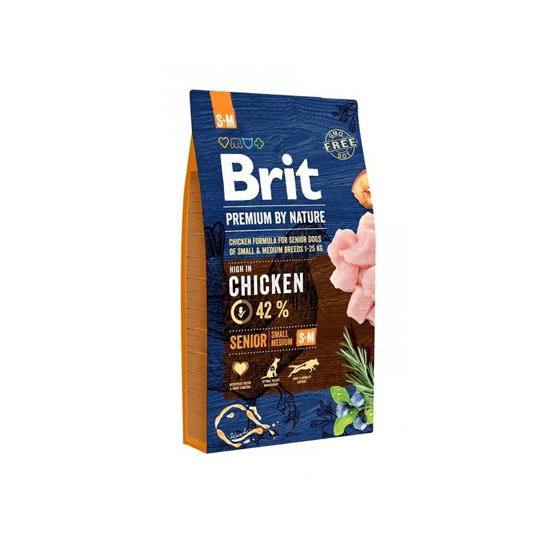 Granule Brit Premium Dog by Nature Senior S+M 8 kg