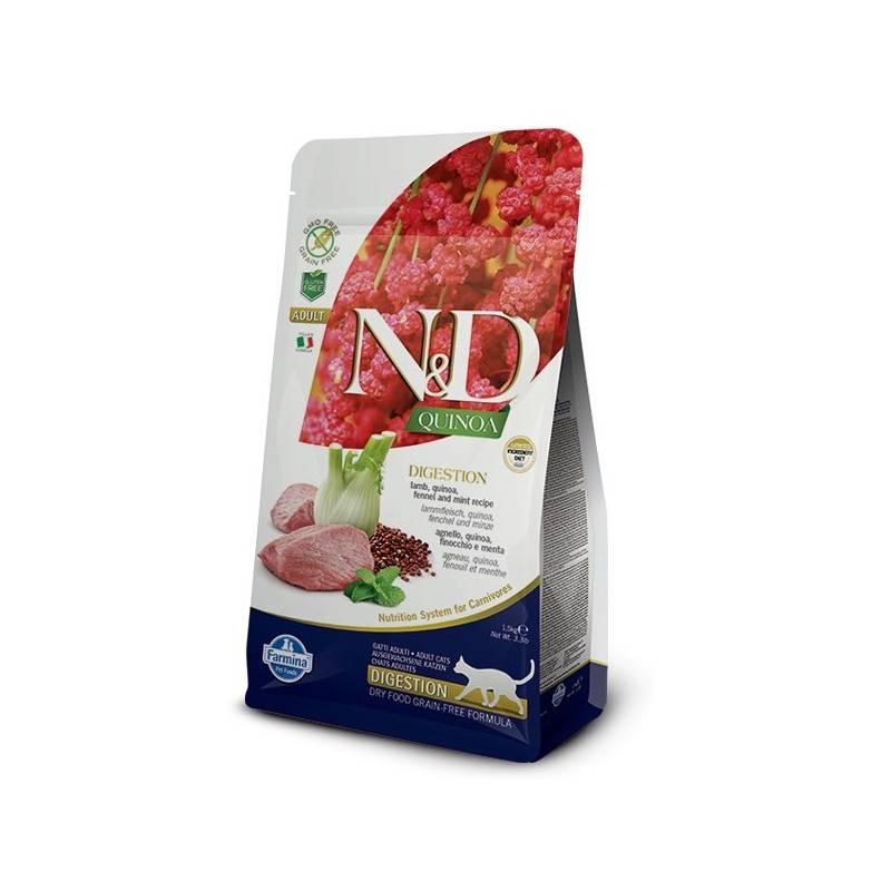 Granule N&D Grain Free Quinoa CAT Digestion Lamb & Fennel 1,5 kg
