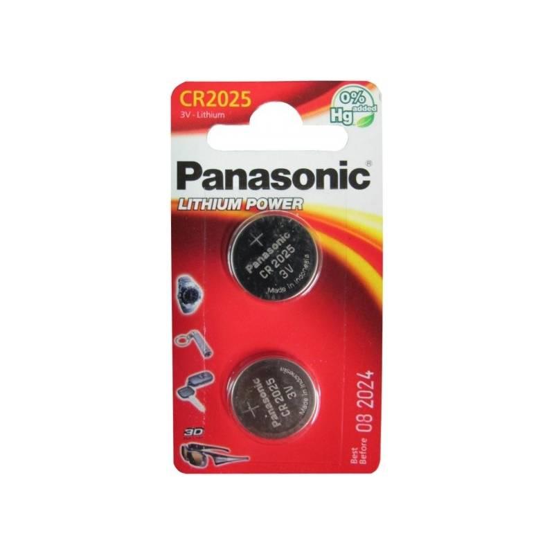 Batéria lítiová Panasonic CR2025, blistr 2ks (CR-2025EL/2B)