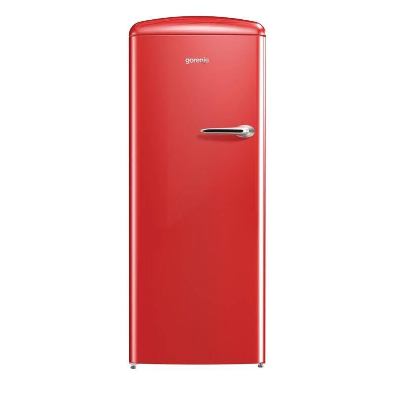 Chladnička Gorenje ORB153RD-L červená + Doprava zadarmo