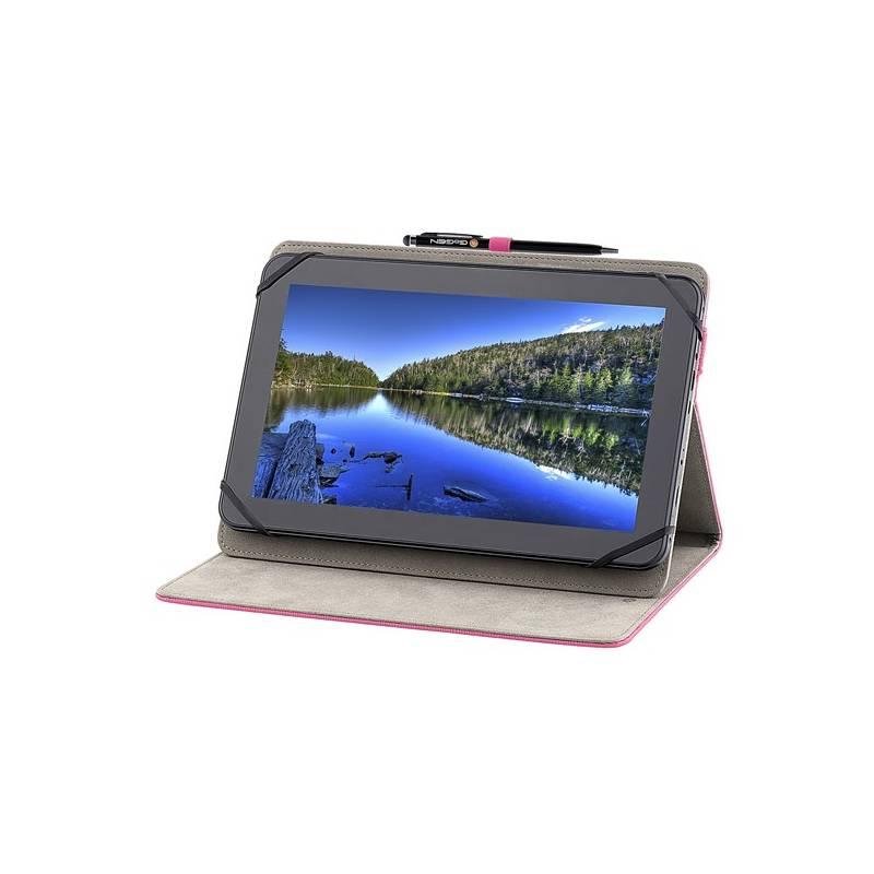 """Puzdro na tablet GoGEN polohovací pro 10,1"""" + stylus (GOGTA10STANDSTP) ružové"""