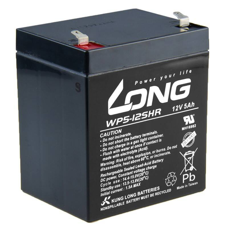 Olovený akumulátor Avacom Long 12V 5Ah HighRate F1 (WP5-12SHR F1) (PBLO-12V005-F1AH)
