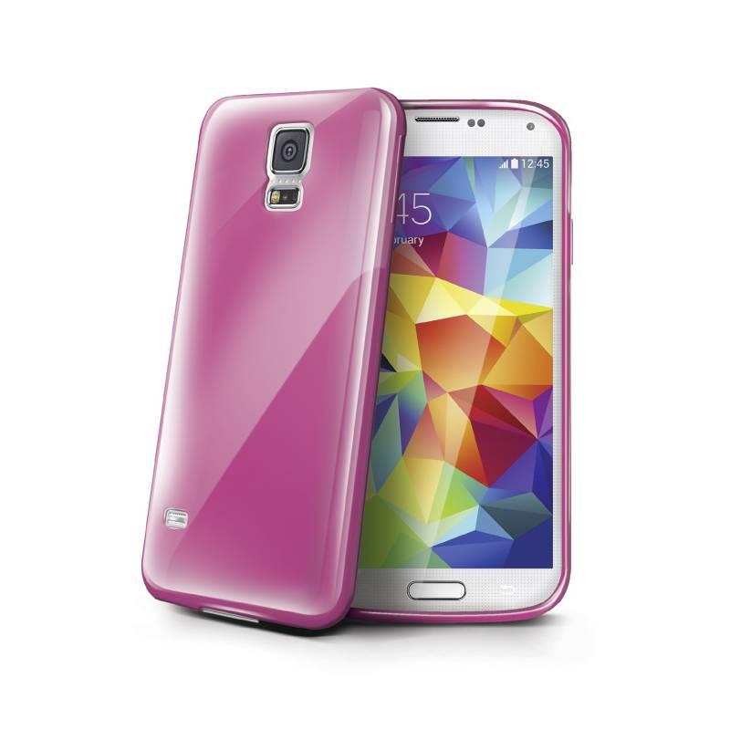 Kryt na mobil Celly Gelskin pro Samsung Galaxy S5 (GELSKIN390P) ružový