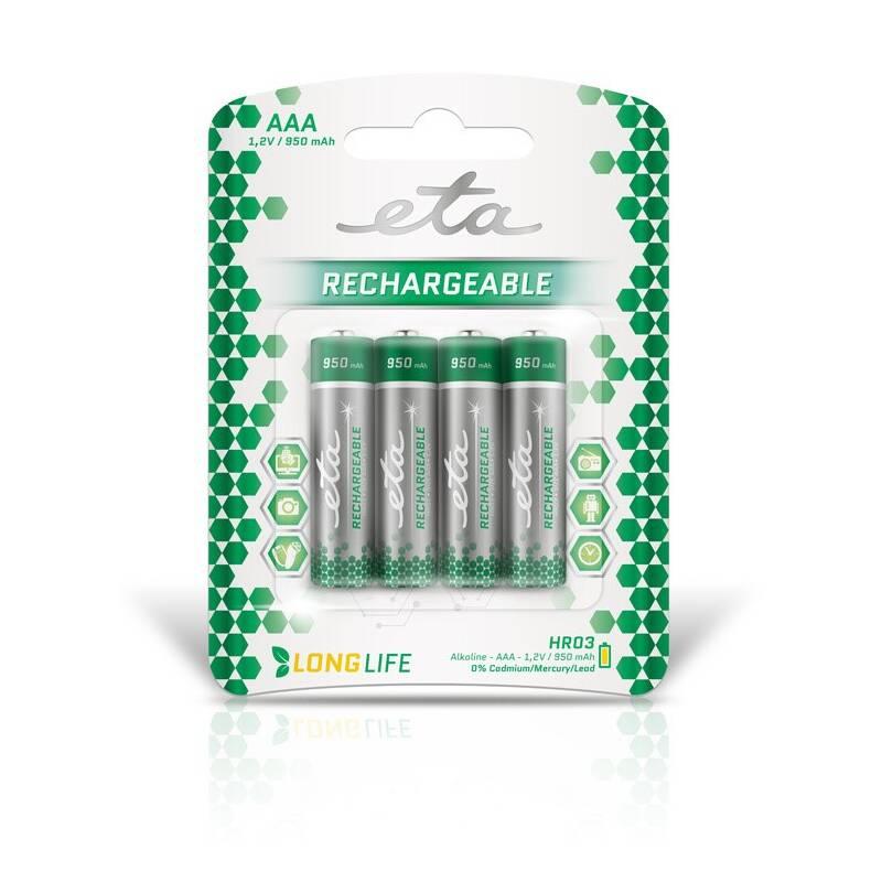 Batéria nabíjacie ETA AAA, HR03, 950mAh, Ni-MH, blistr 4ks (R03CHARGE9504)