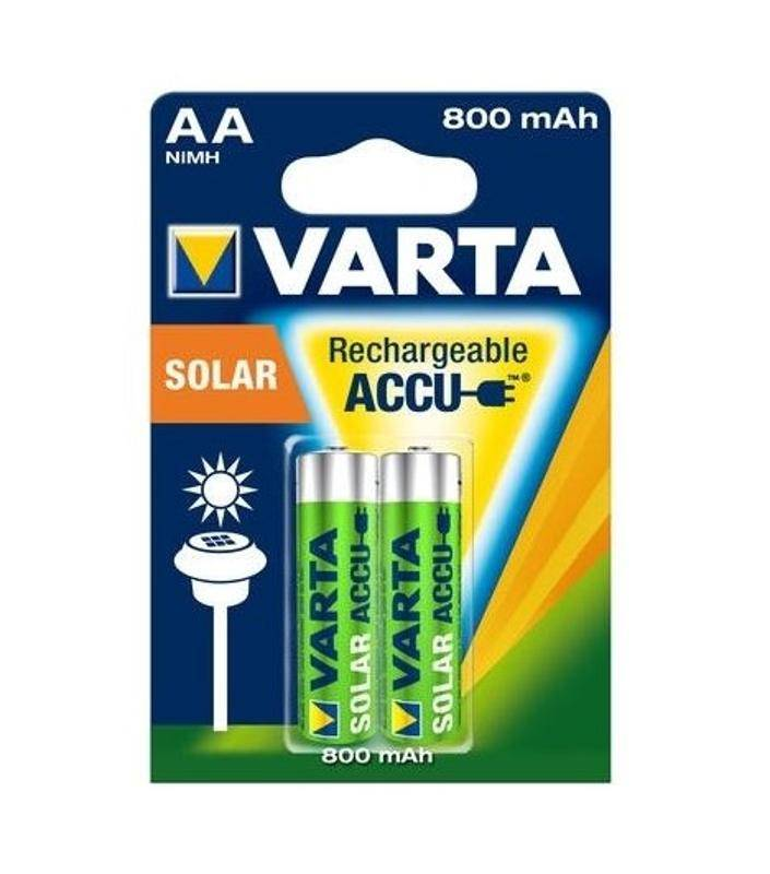 Batéria alkalická Varta Solar Rechargeable Accu, AA, 800 mAh, 2 ks