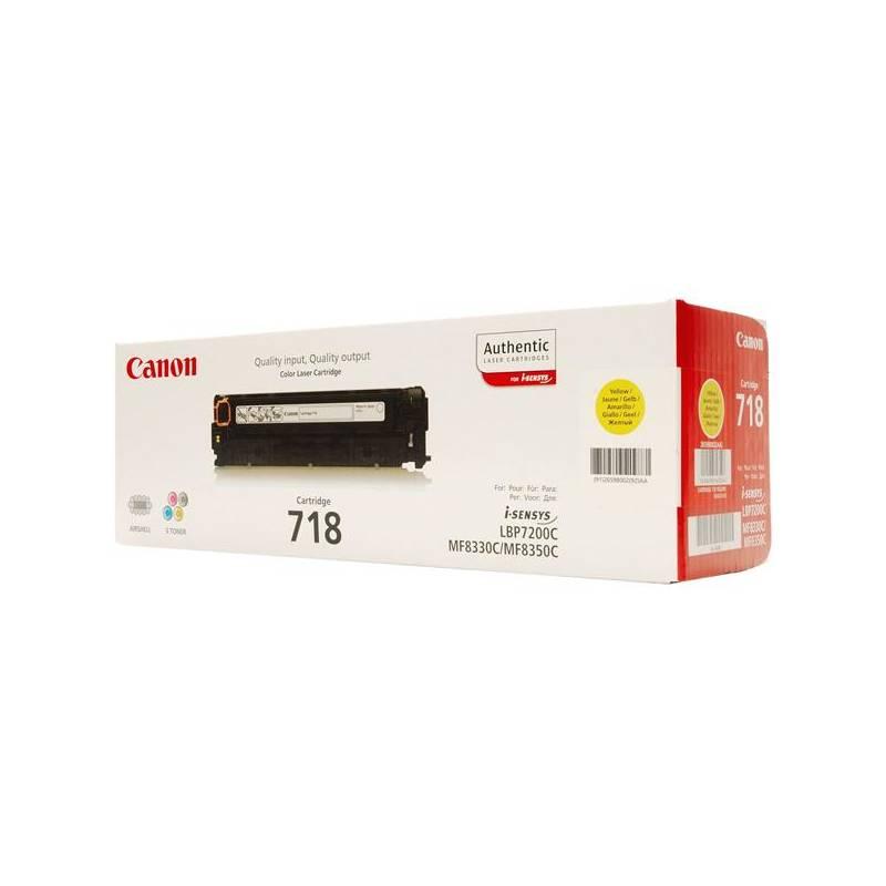 Toner Canon CRG-718Y, 2900 stran (2659B002) žltý
