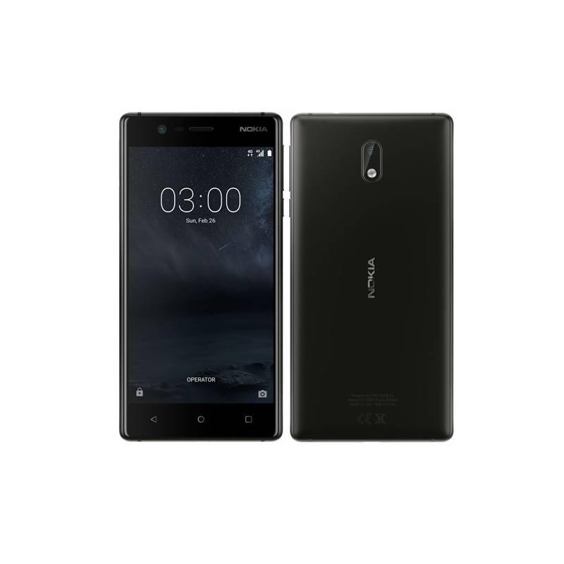 Mobilný telefón Nokia 3 Dual SIM (11NE1B01A16) čierny + Doprava zadarmo