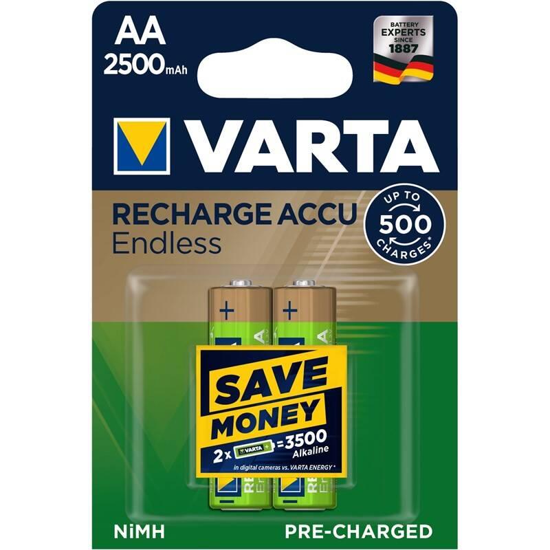 Batéria nabíjacie Varta Endless HR06, AA, 2500mAh, Ni-MH, blistr 2ks (56686101402)