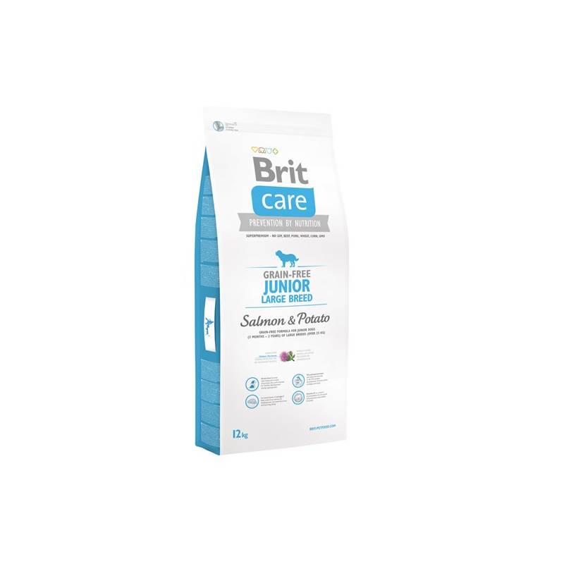 Granuly Brit Care Grain-free Junior Large Breed Salmon & Potato 12 kg + Doprava zadarmo