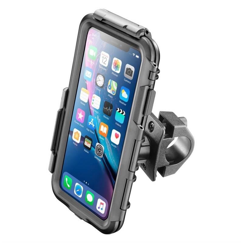 Držiak na mobil Interphone pro Apple iPhone XR, úchyt na řídítka, voděodolné pouzdro (SMIPHONEXR)