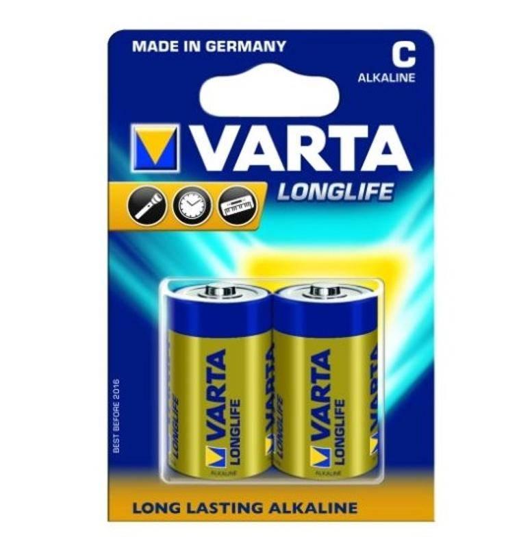 Batéria alkalická Varta Longlife, C, 2 ks