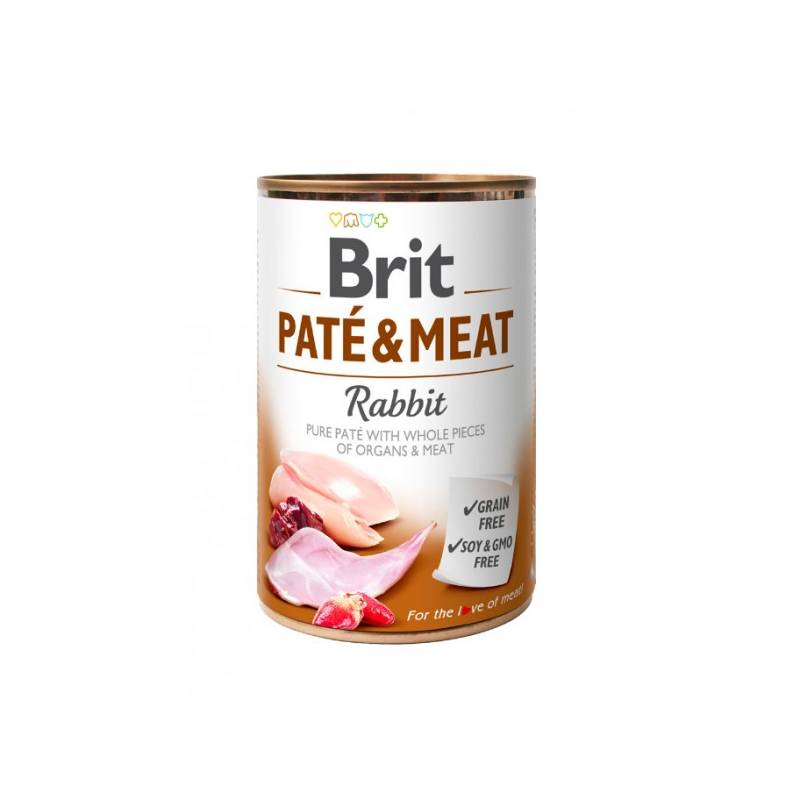 Konzerva Brit Dog Paté & Meat Rabbit 400 g