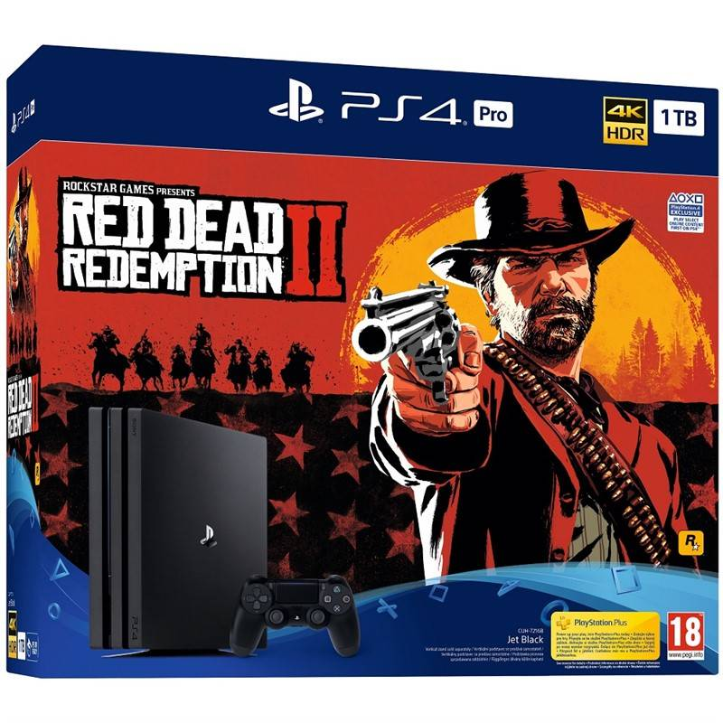 Herná konzola Sony PlayStation 4 Pro 1TB + Red Dead Redemption 2 (PS719760511) čierna