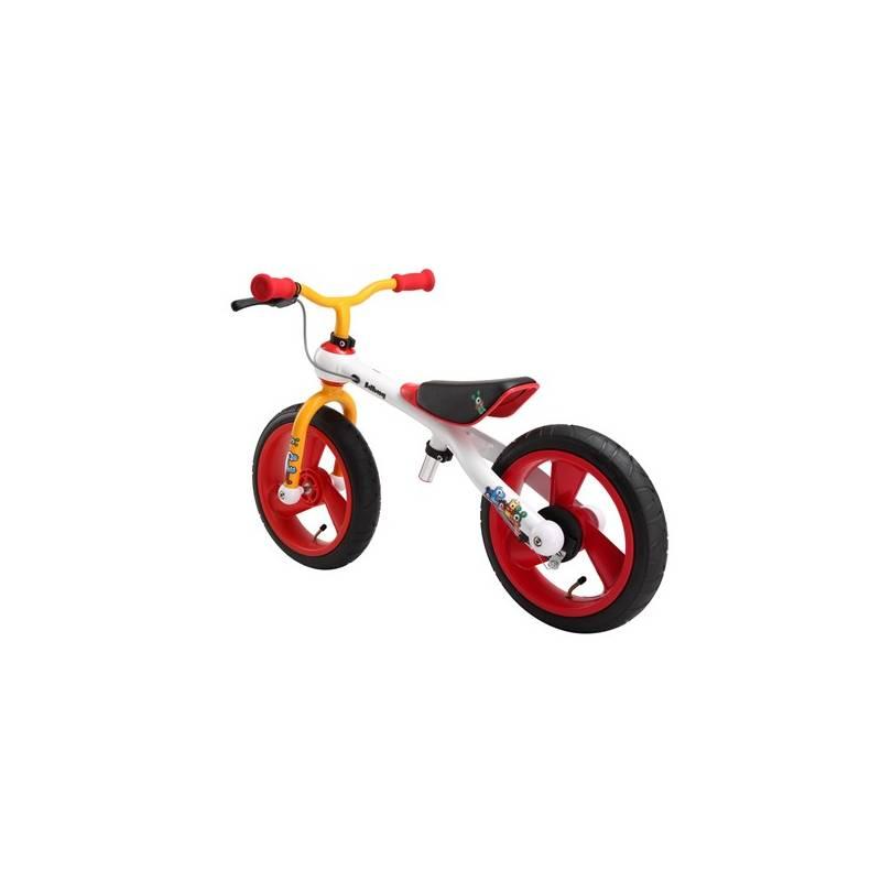 Odrážadlo Jd Bug Training Bike Crazzy Colours biele/červené/oranžové + Reflexní sada 2 SportTeam (pásek, přívěsek, samolepky) - zelené v hodnote 2.80 € + Doprava zadarmo
