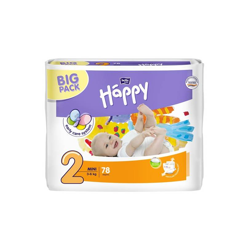 Plienky Bella Baby Happy Mini Big Pack 78 ks