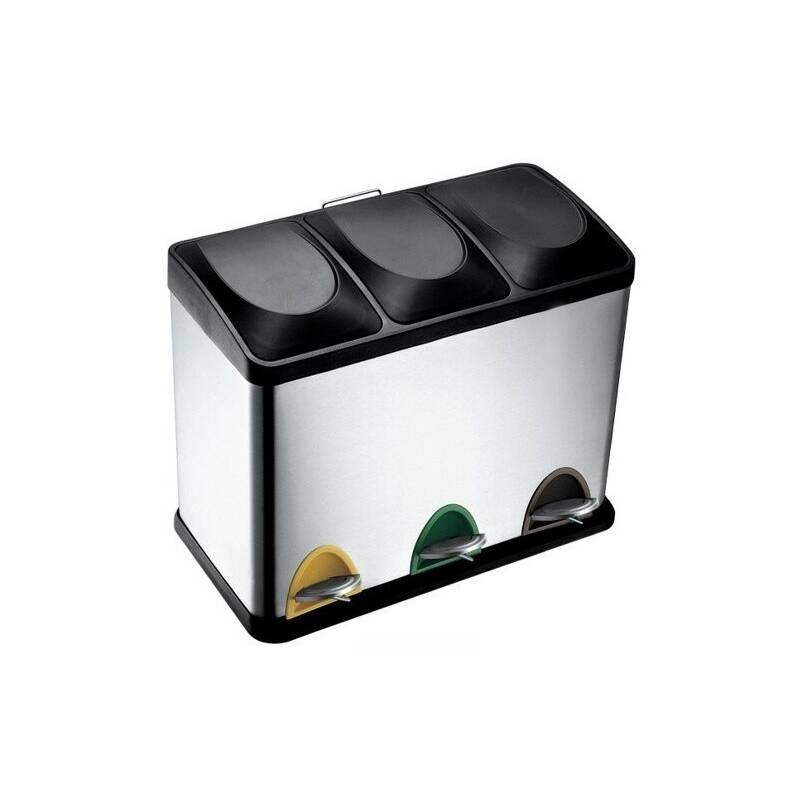 Odpadkový kôš TORO 3 x 15 l čierny/nerez Čistící přípravek na koupelny YOU 500 ml (zdarma)Sáčky do koše Brabantia 20L (E) 20ks v roli (zdarma)