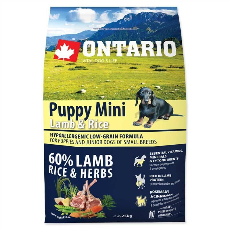 Granuly Ontario Puppy Mini Lamb & Rice 2,25 kg