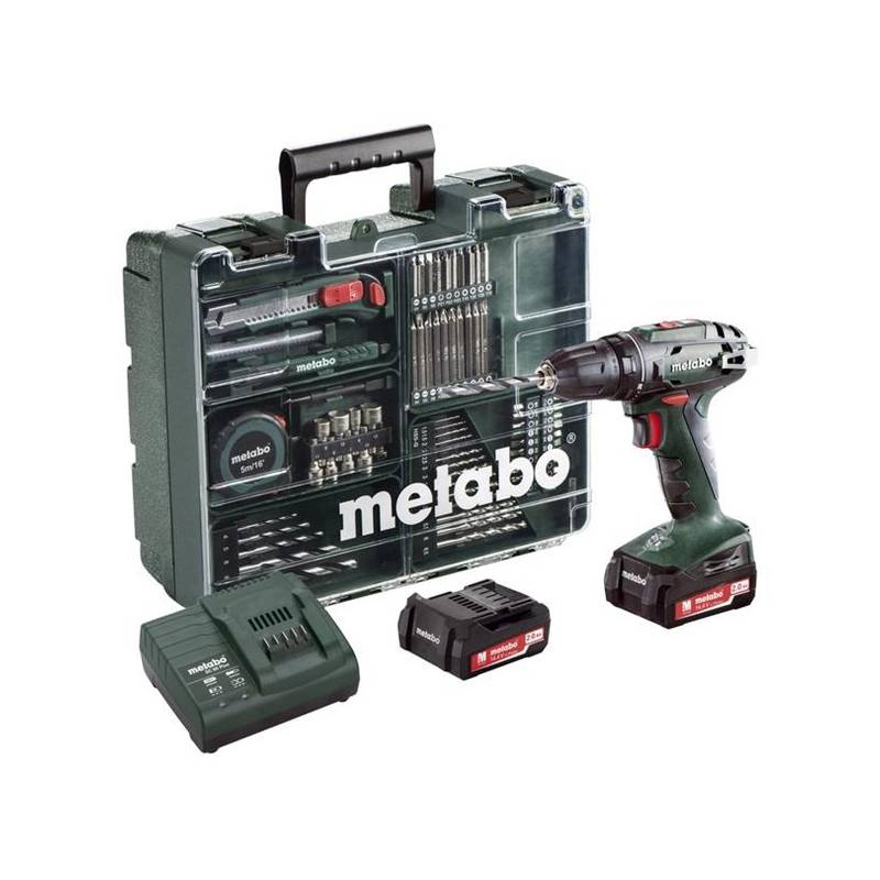 Aku vŕtačka Metabo BS 14.4 Set MD 602206880 zelená