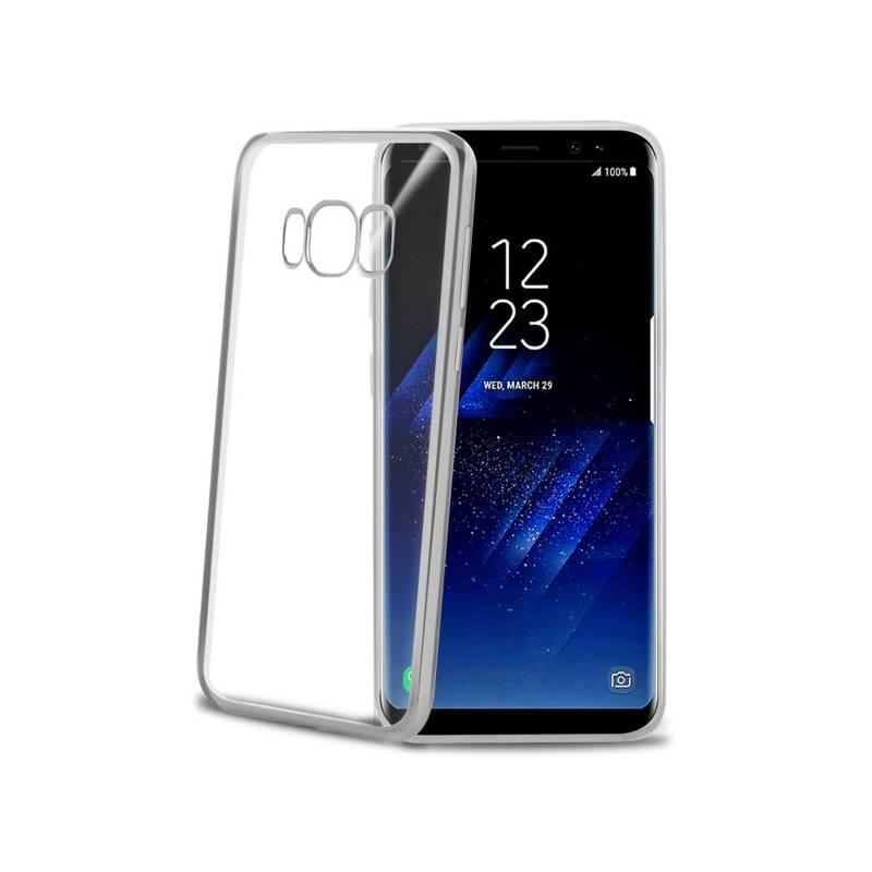 Kryt na mobil Celly Laser pro Samsung Galaxy S8 (LASER690SV) strieborný