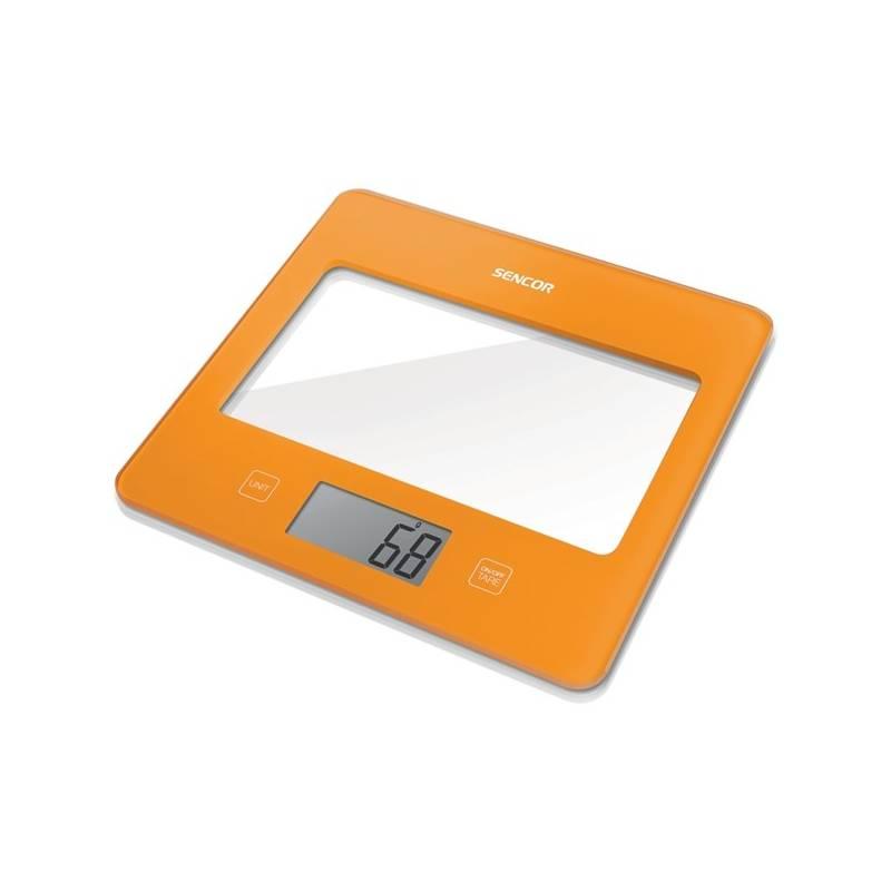 Kuchynská váha Sencor SKS 5023OR oranžová
