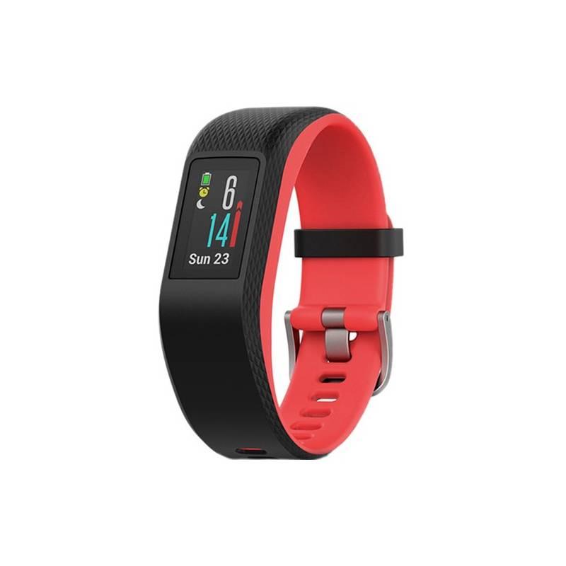 Monitorovací náramok Garmin vivoSport (S/M) čierne/červené