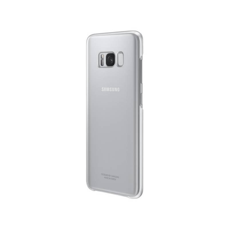 Kryt na mobil Samsung Clear Cover pro Galaxy S8+ (EF-QG955C) (EF-QG955CSEGWW) strieborný