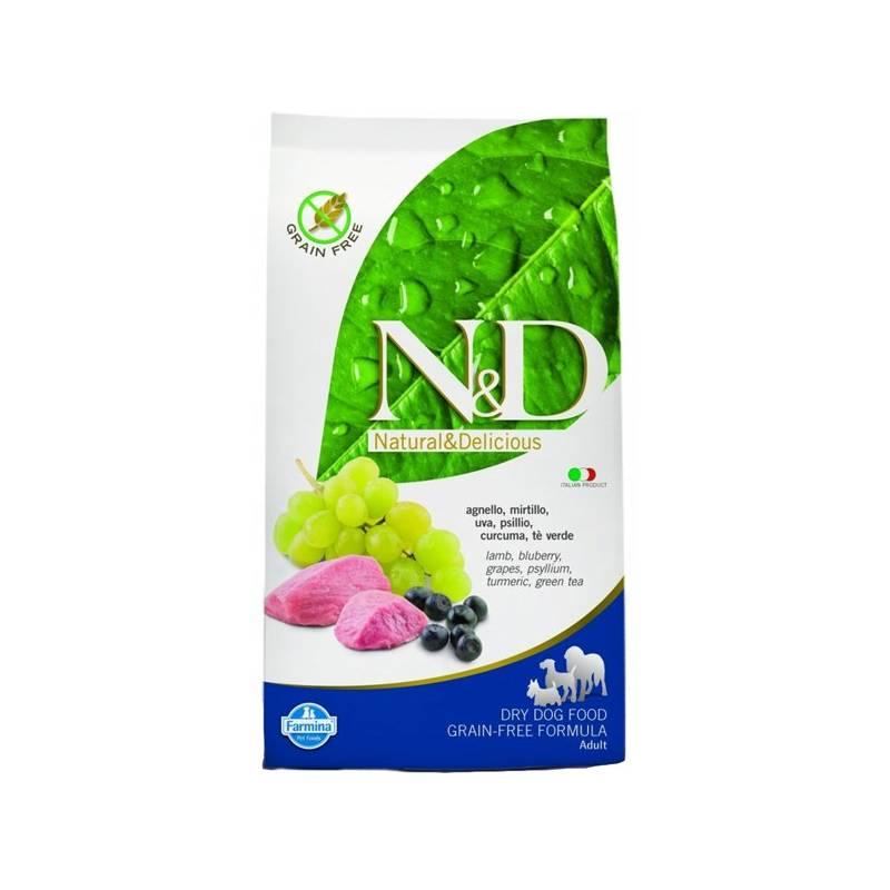 Granule N&D Grain Free DOG Adult Maxi Lamb & Blueberry 12 kg Antiparazitní obojek Scalibor Protectorband pro psy - 48 cm
