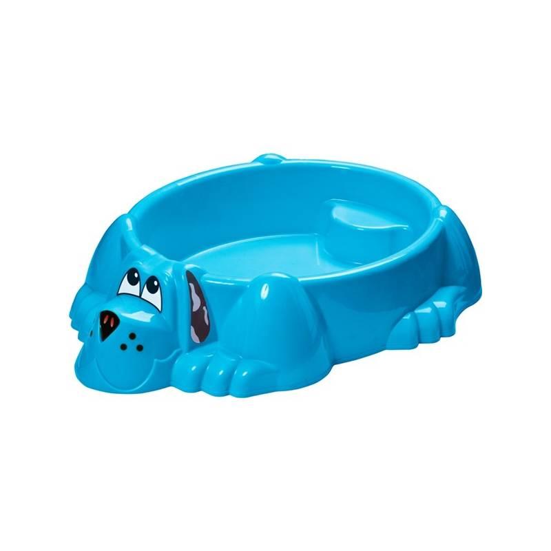 Pieskovisko/bazénik Marian Plast - pejsek 113x95cm, oranžové modré