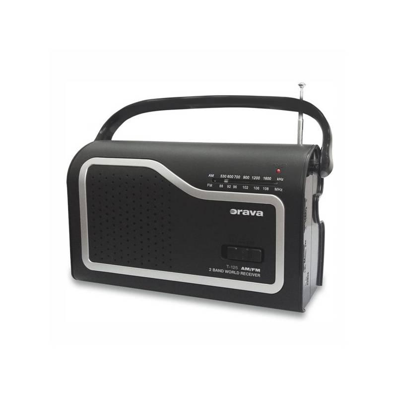 Rádioprijímač Orava SK T-125 čierny