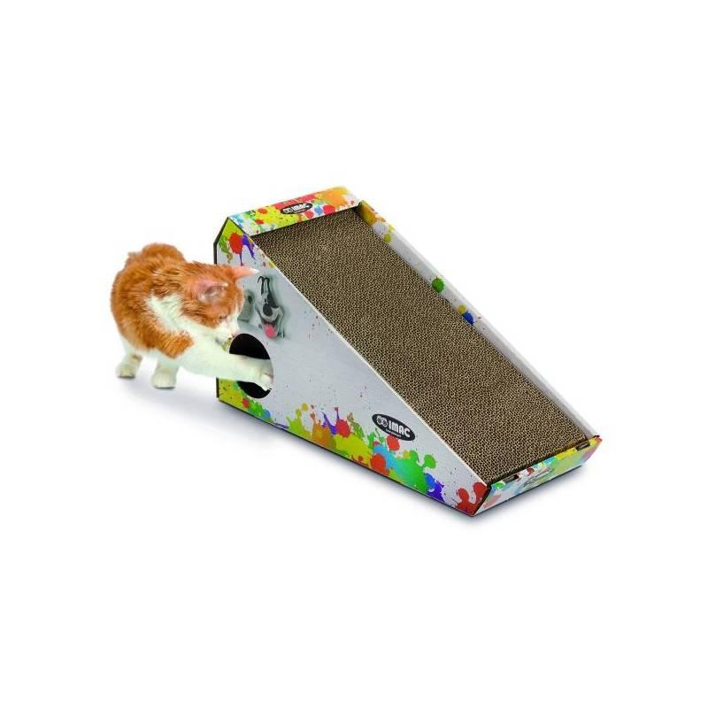 Škrabadlo Argi kartonové pro kočky s hračkou a šantou - 48 x 27 x 20 cm Toaleta Argi s rámem a vysokým okrajem - 45 x 36 x 15,5 cm - zelená (zdarma)