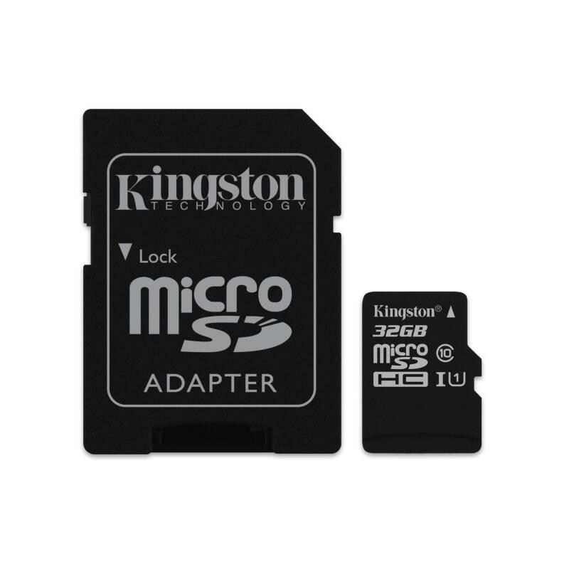 Pamäťová karta Kingston Canvas Select MicroSDHC 32GB UHS-I U1 (80R/10W) + adapter (SDCS/32GB)