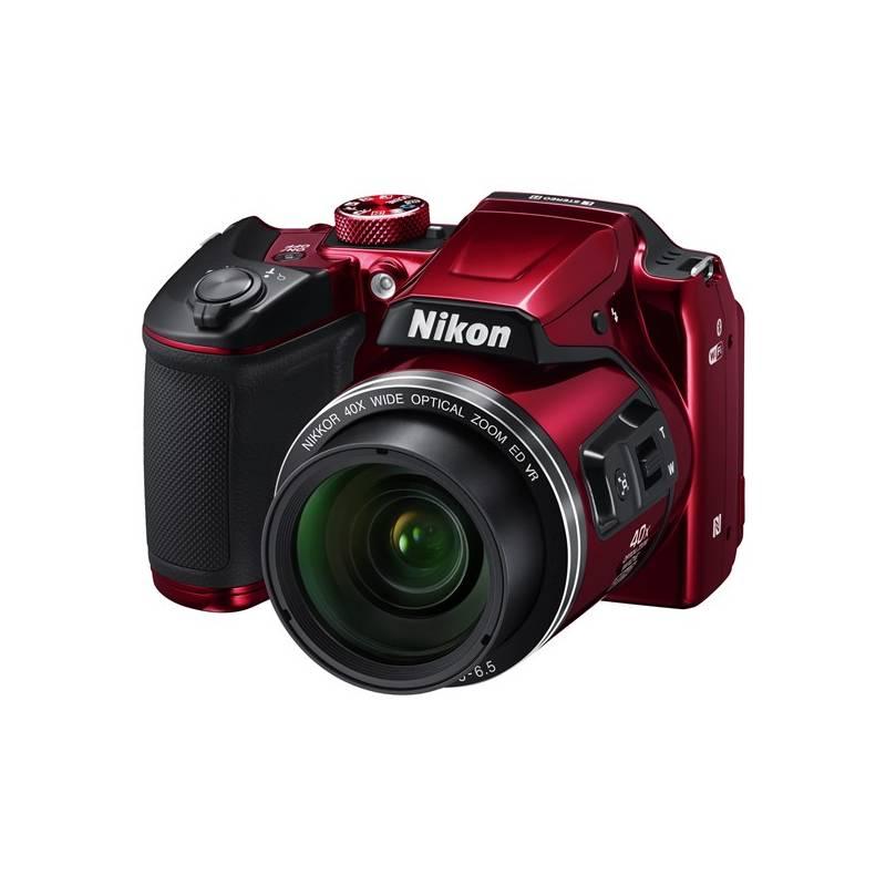 Digitálny fotoaparát Nikon Coolpix B500 červený Zimní čepice I AM NIKON (zdarma) + Doprava zadarmo
