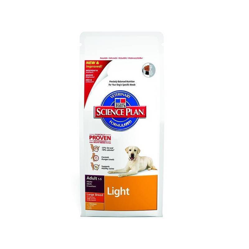 Granule Hill's Canine Adult Large Breed Light Chicken, 12 + 2,5 kg ZDARMA